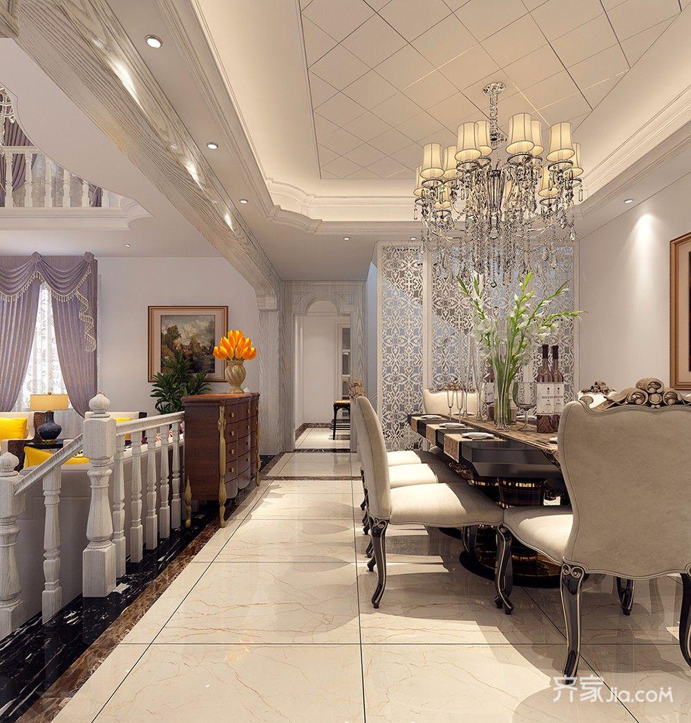 250平欧式风格别墅餐厅装修效果图