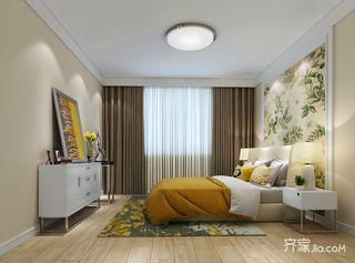 160㎡现代简约三居卧室装修效果图