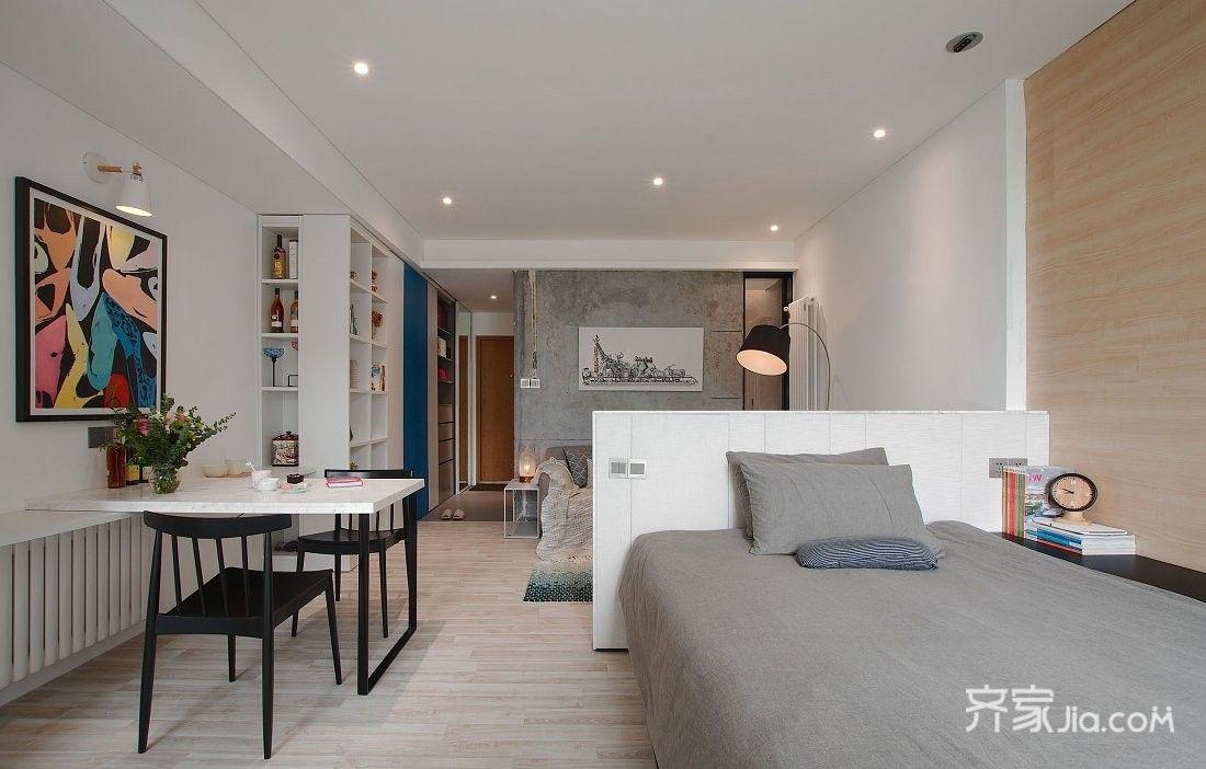 小户型现代风格一居卧室装修效果图