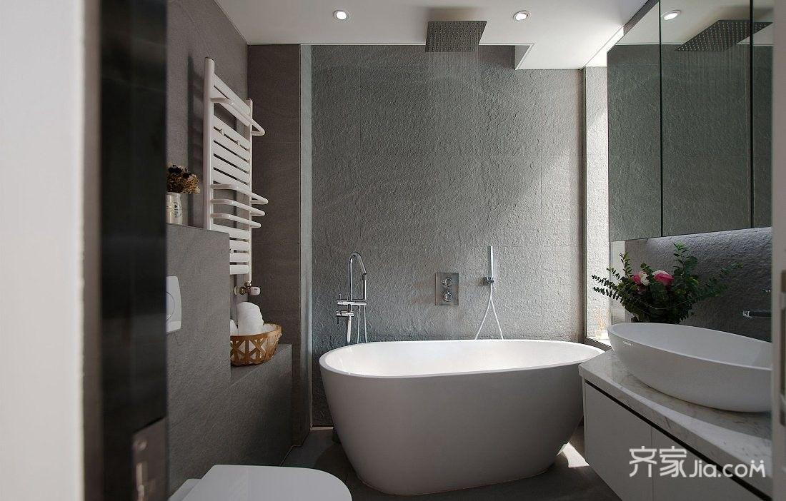 小户型现代风格一居卫生间装修效果图