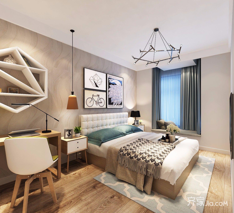 75平现代风格两居卧室装修效果图
