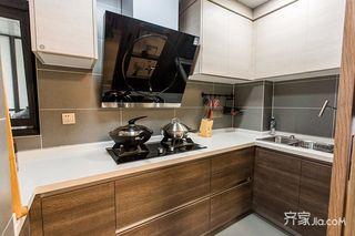 120平现代简约二居装修厨房布局图