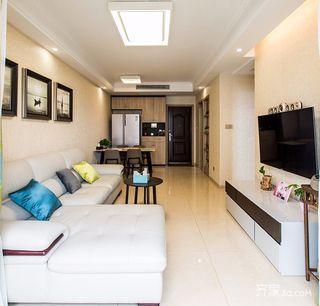 120平现代简约二居客厅装修效果图