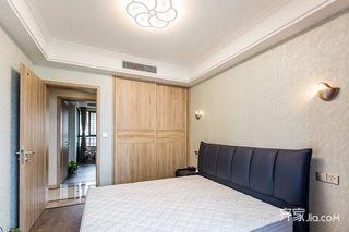 120平现代简约二居卧室装修搭配图