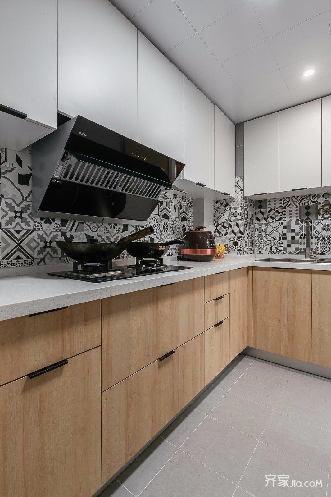 90平北欧风两居厨房装修效果图
