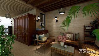 大户型美式风别墅休闲室装修效果图