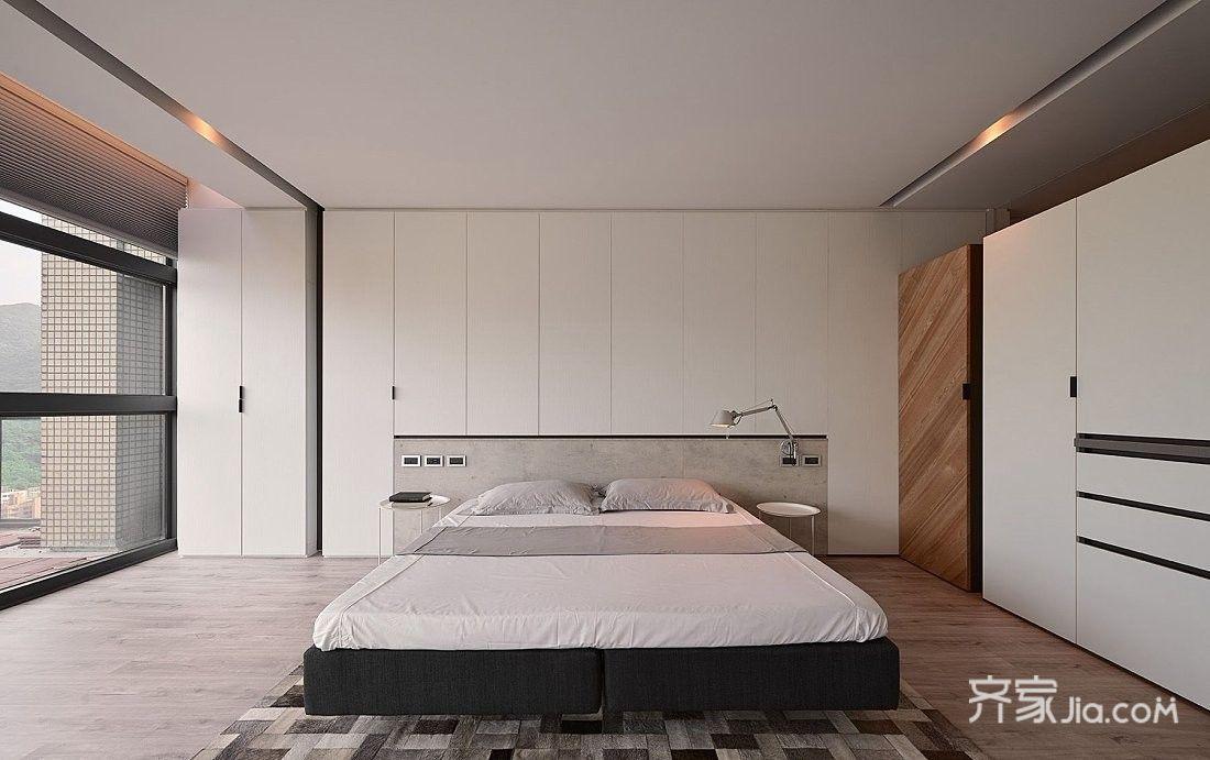 大户型现代风四居卧室装修效果图