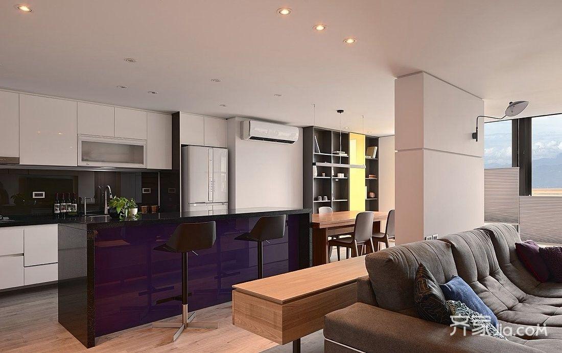 大户型现代风四居厨房装修效果图