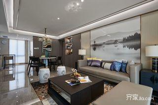 128平新中式三居装修效果图