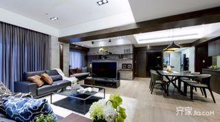 现代混搭风三居客厅装修设计效果图
