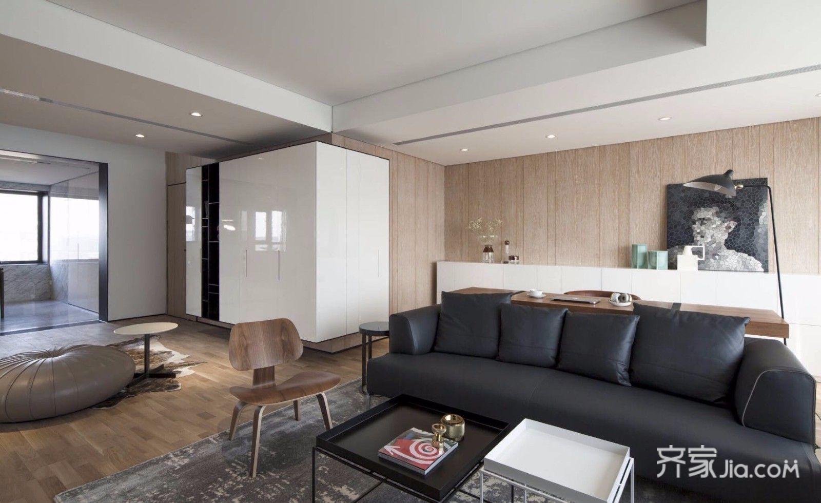 大户型极简风格客厅装修效果图