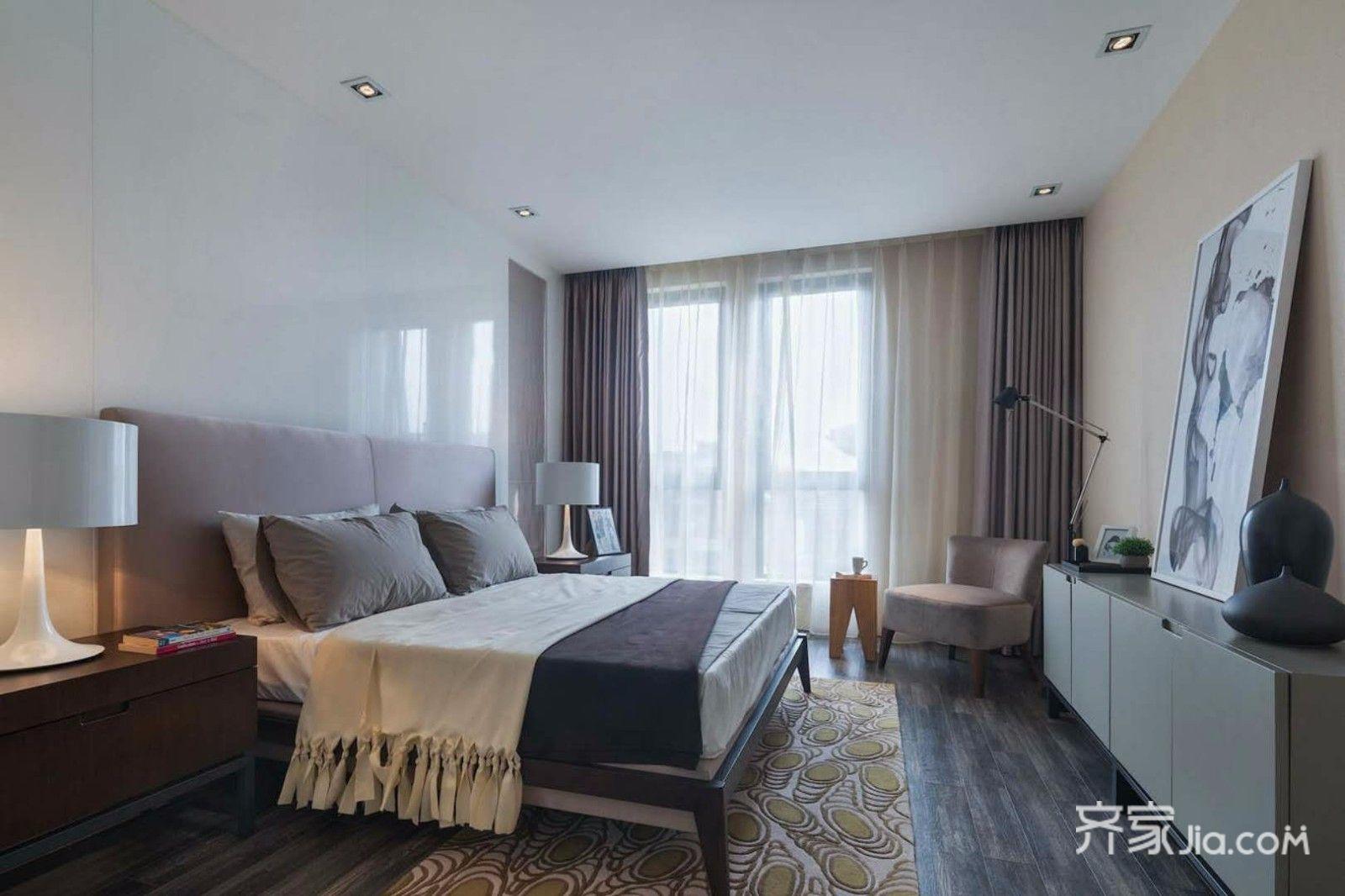 现代简约风格大户型卧室装修设计图