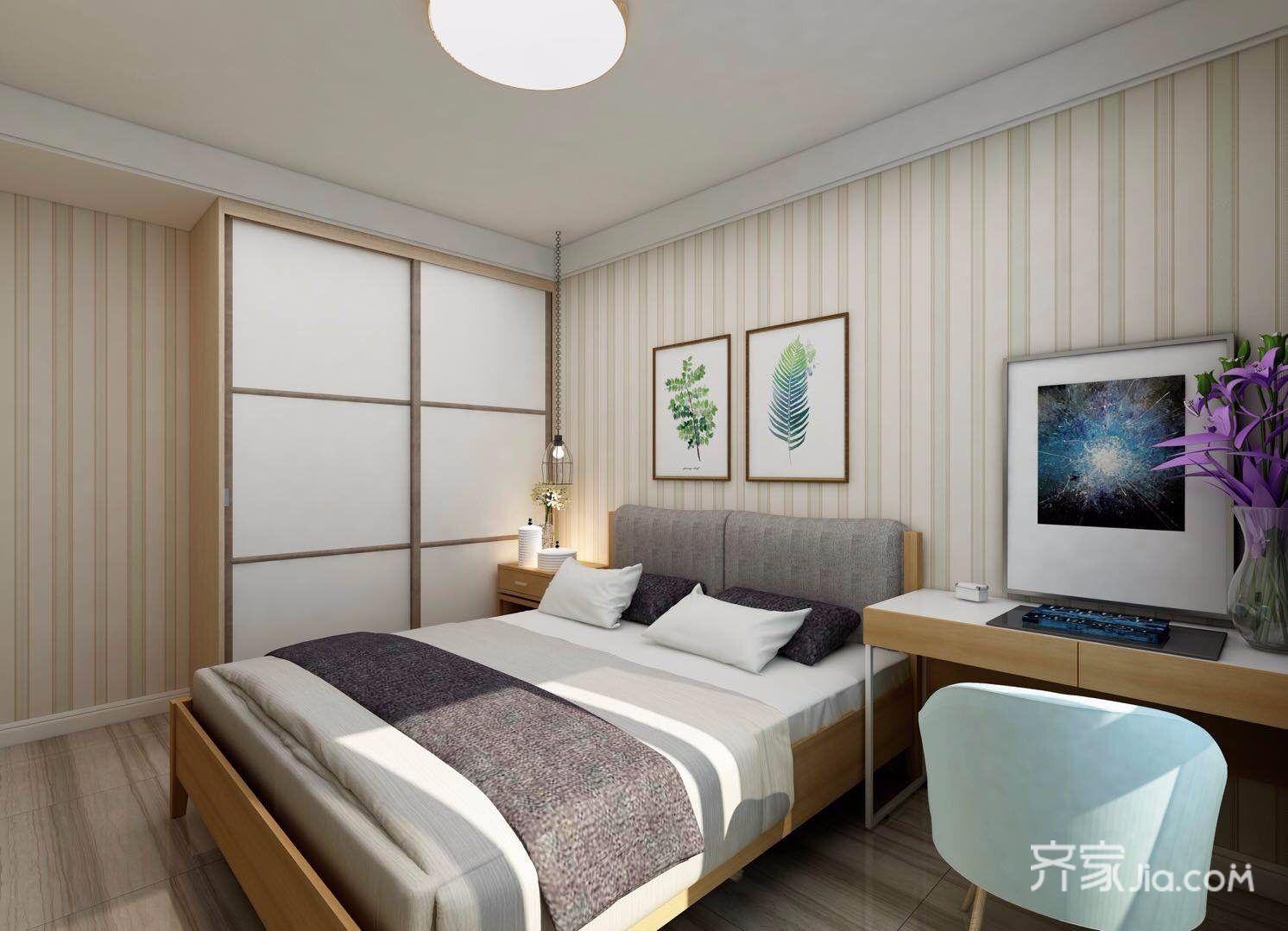 小户型北欧一居卧室装修效果图