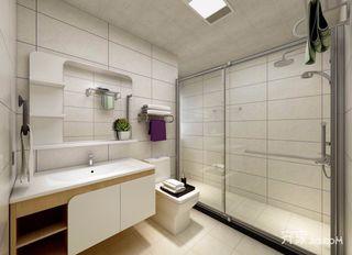 三居室现代北欧混搭卫生间装修效果图