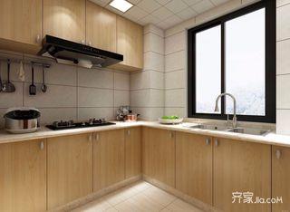 95平现代北欧混搭厨房装修效果图