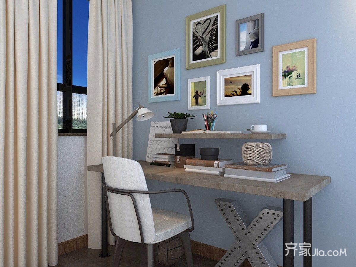 90平米简约风两居装修书桌效果图