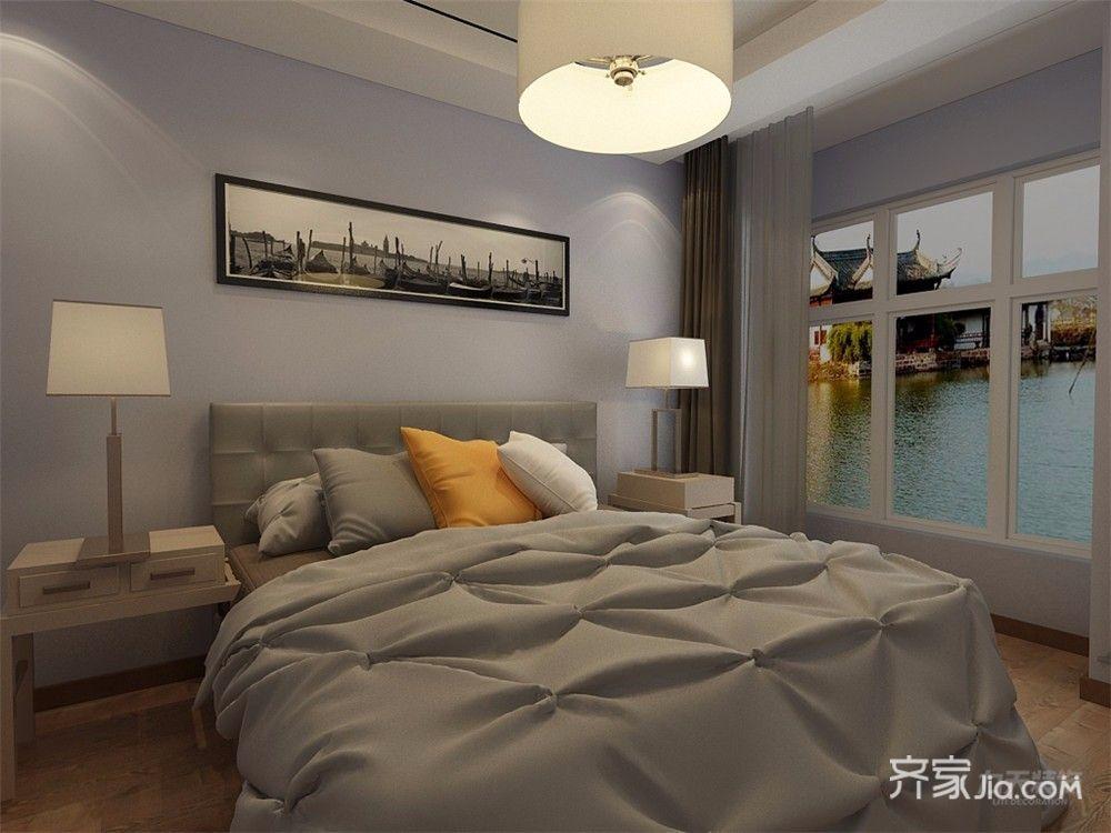 90㎡现代风格两居卧室装修效果图