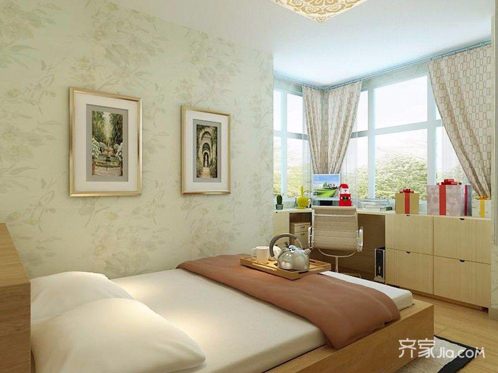 小户型现代简约两居卧室装修效果图