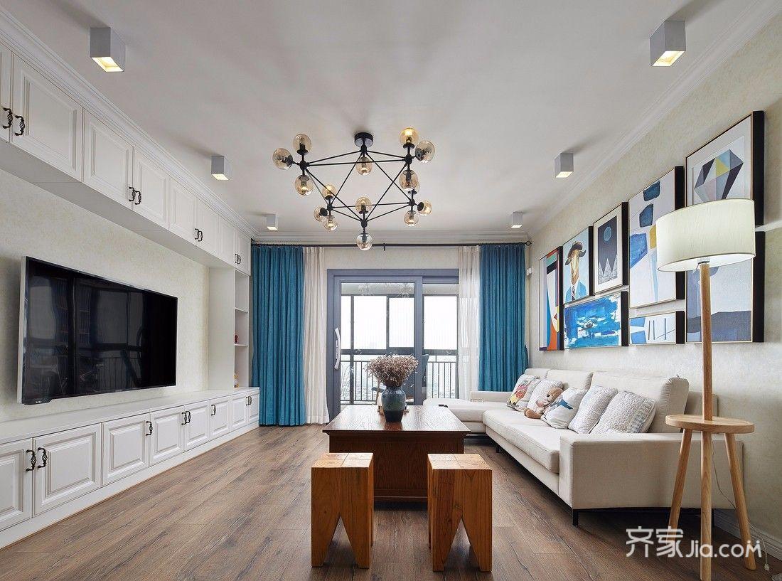 140平混搭风格三居客厅装修效果图