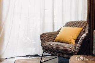 北欧风格三居装修躺椅设计图