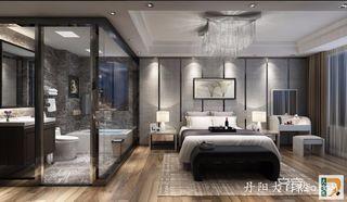 高级灰现代简约风卧室背景墙装修效果图