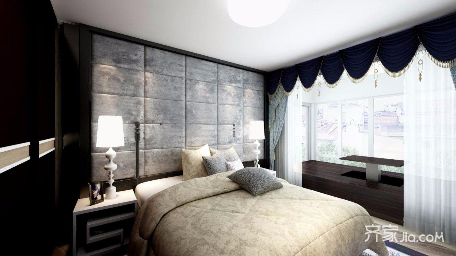 150㎡现代简约三居卧室装修效果图