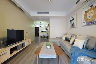 简约风格两居室装修电视背景墙设计图