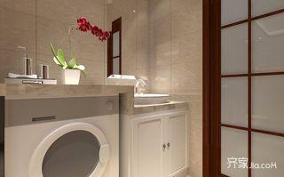 138平混搭风格三居装修浴室柜效果图