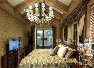 美式复古别墅卧室装修效果图