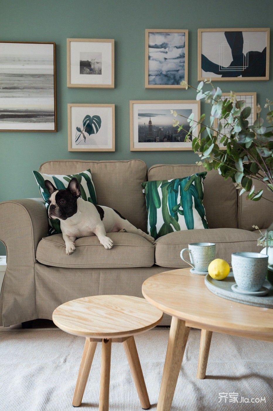 小户型北欧风一居装修沙发搭配图