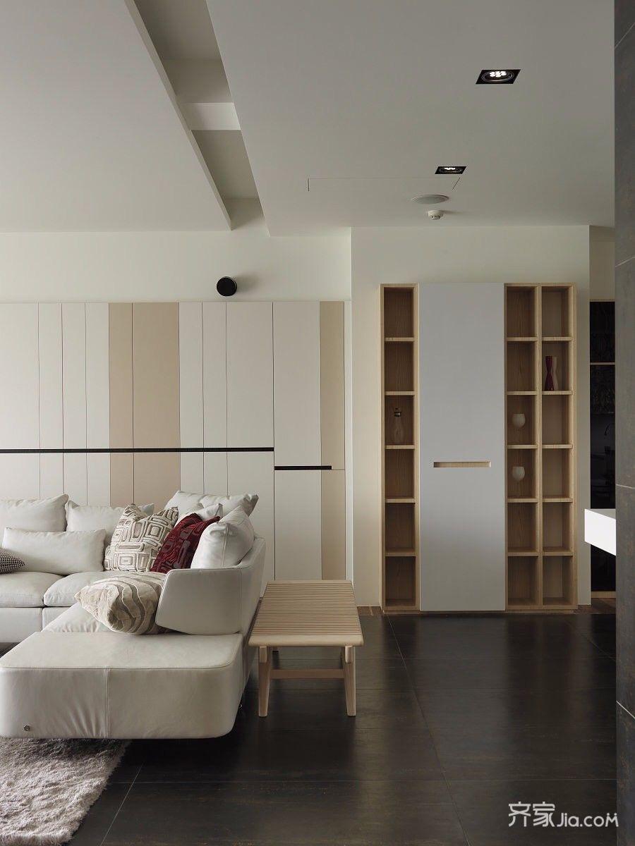 大户型现代简约沙发背景墙装修设计效果图