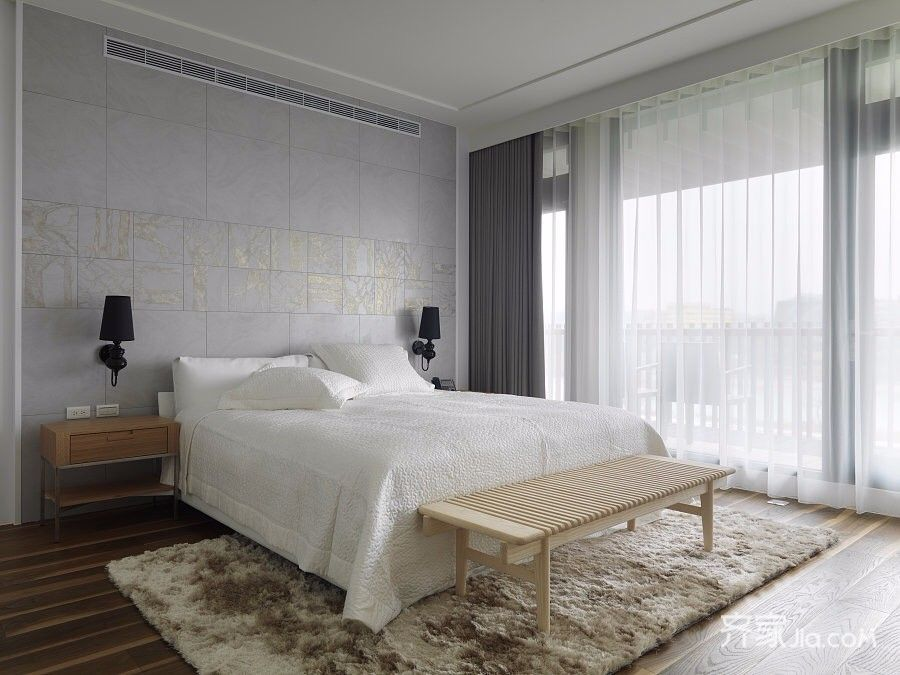 大户型现代简约卧室装修设计效果图