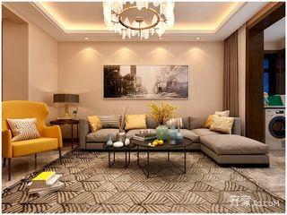 80平现代风格两居沙发背景墙装修效果图