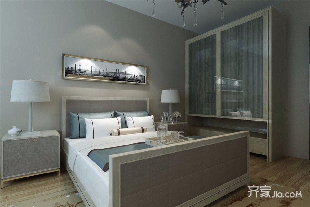 110平现代风格三居卧室装修效果图
