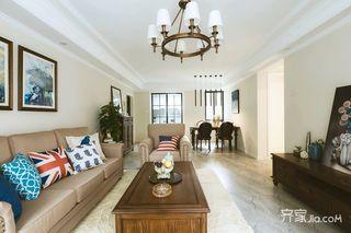 108平美式三居装修设计效果图
