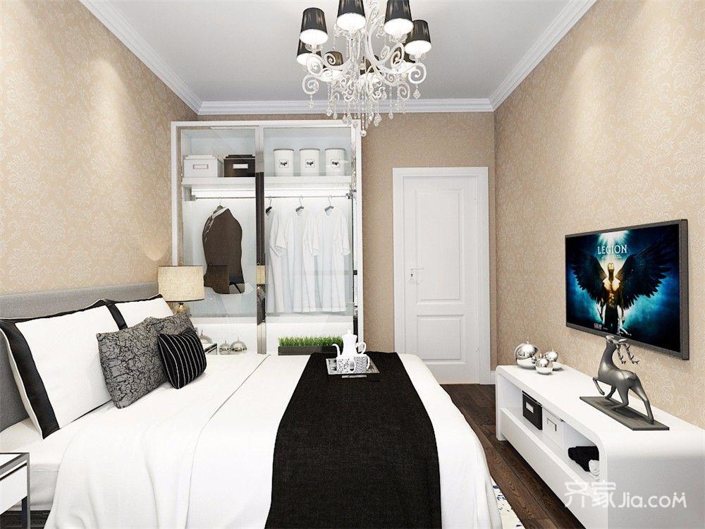 现代风格两居室装修衣柜效果图