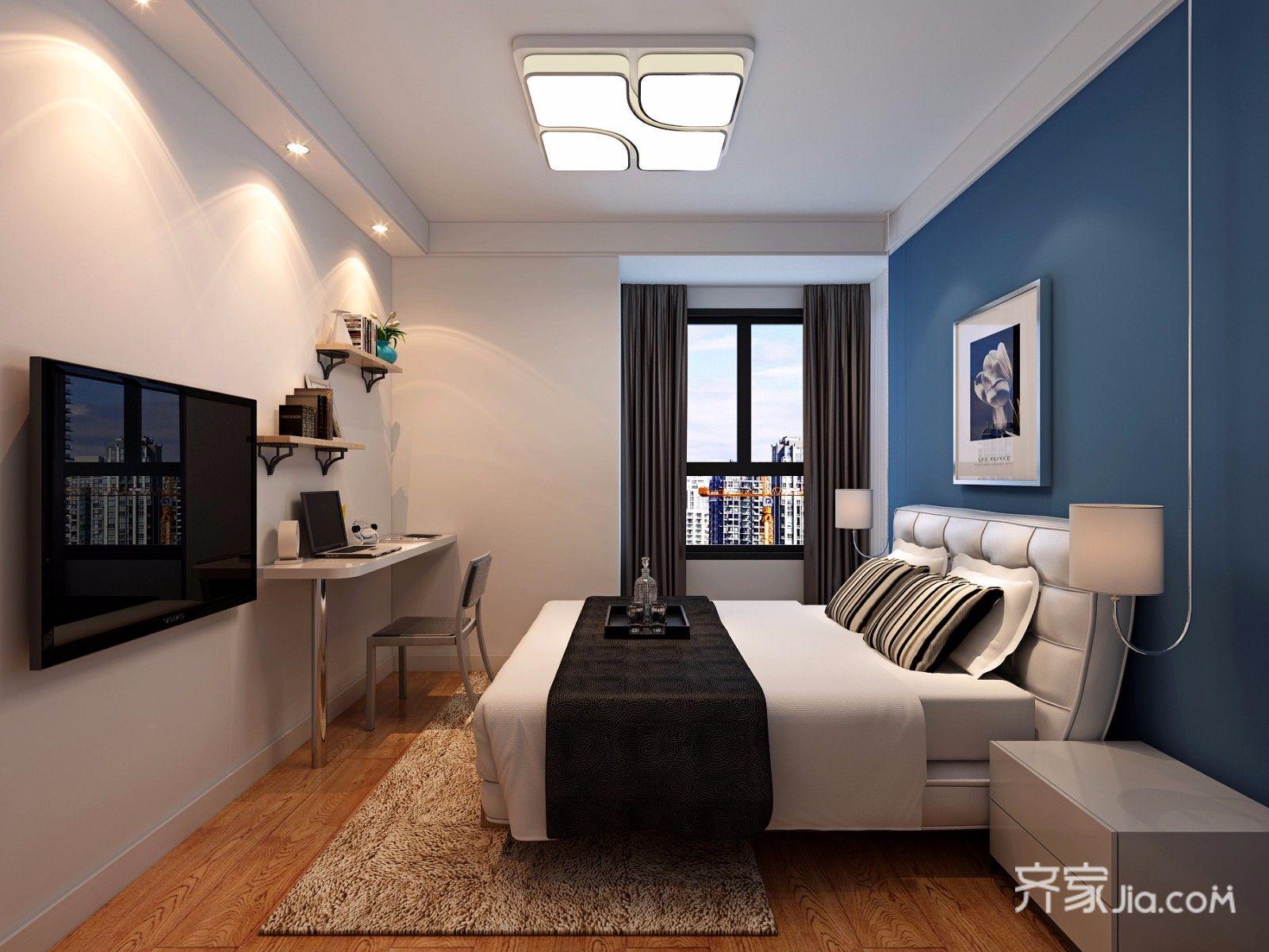 110平现代风三居卧室装修效果图