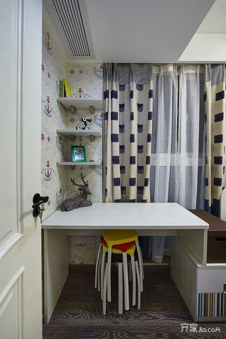 89平现代简约风三居装修书桌设计图