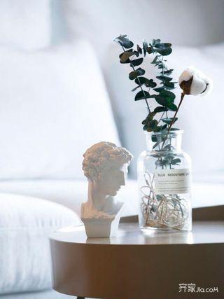 小户型北欧风格二居装修茶几摆件特写