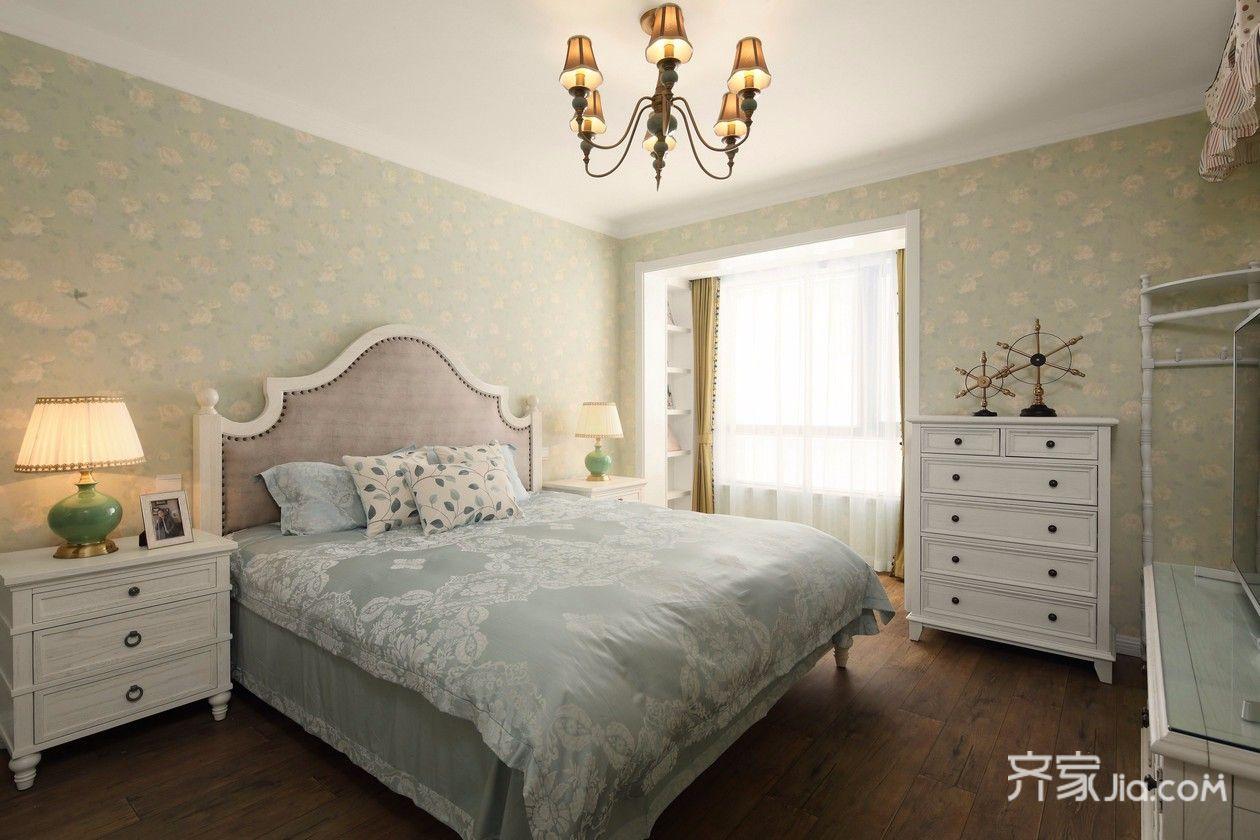 105㎡美式风格三居卧室装修效果图