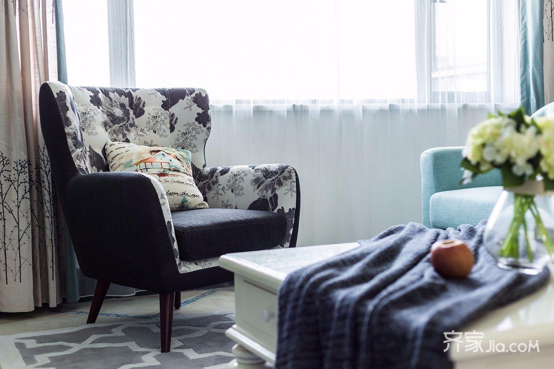 135㎡美式风格三居装修躺椅设计图