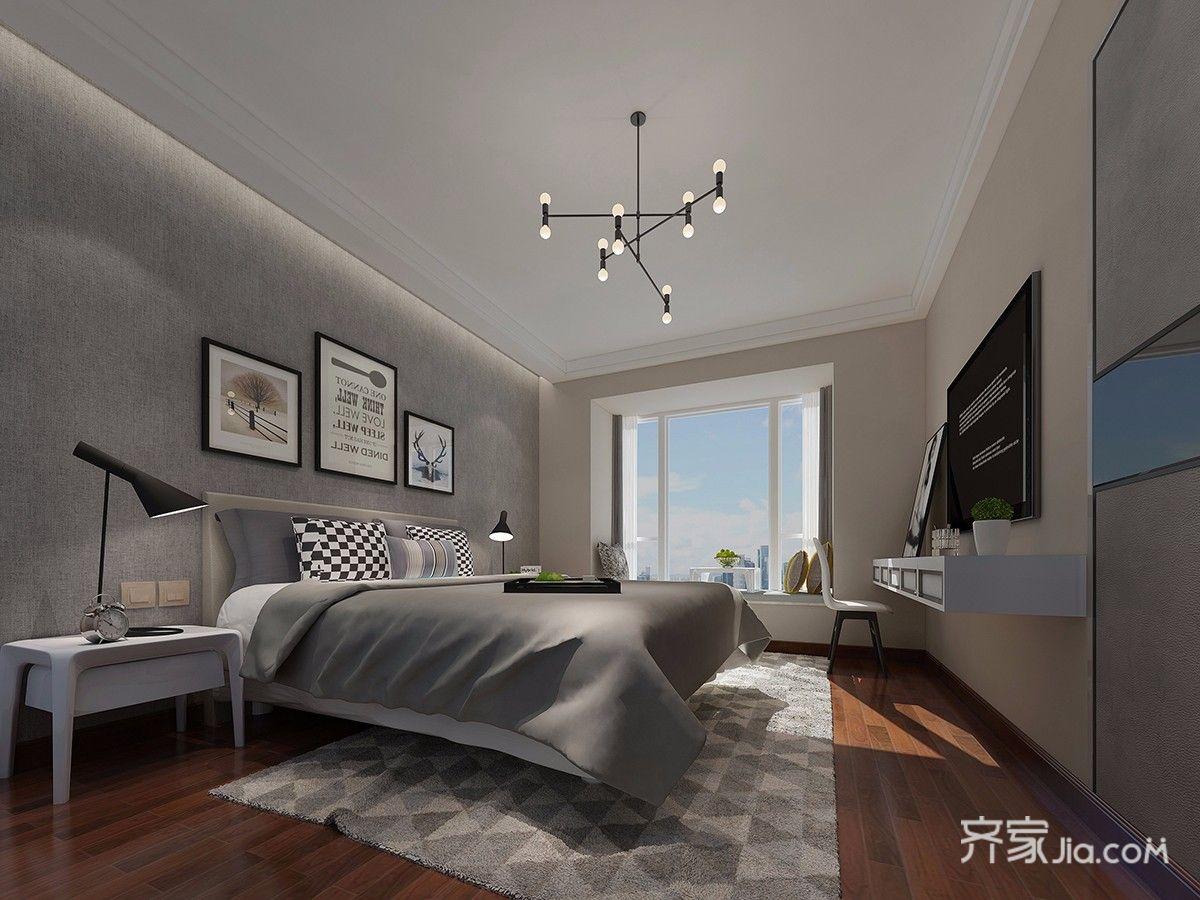 130平北欧风格四居卧室装修效果图