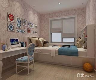 135平新中式三居儿童房装修效果图