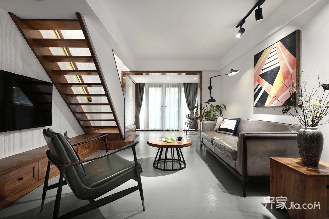 150平米简约复式装修客厅效果图