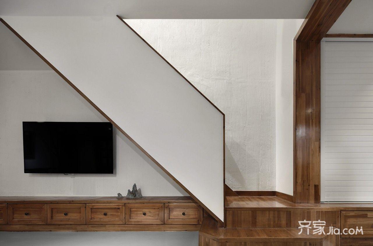 150平米简约复式装修电视背景墙效果图
