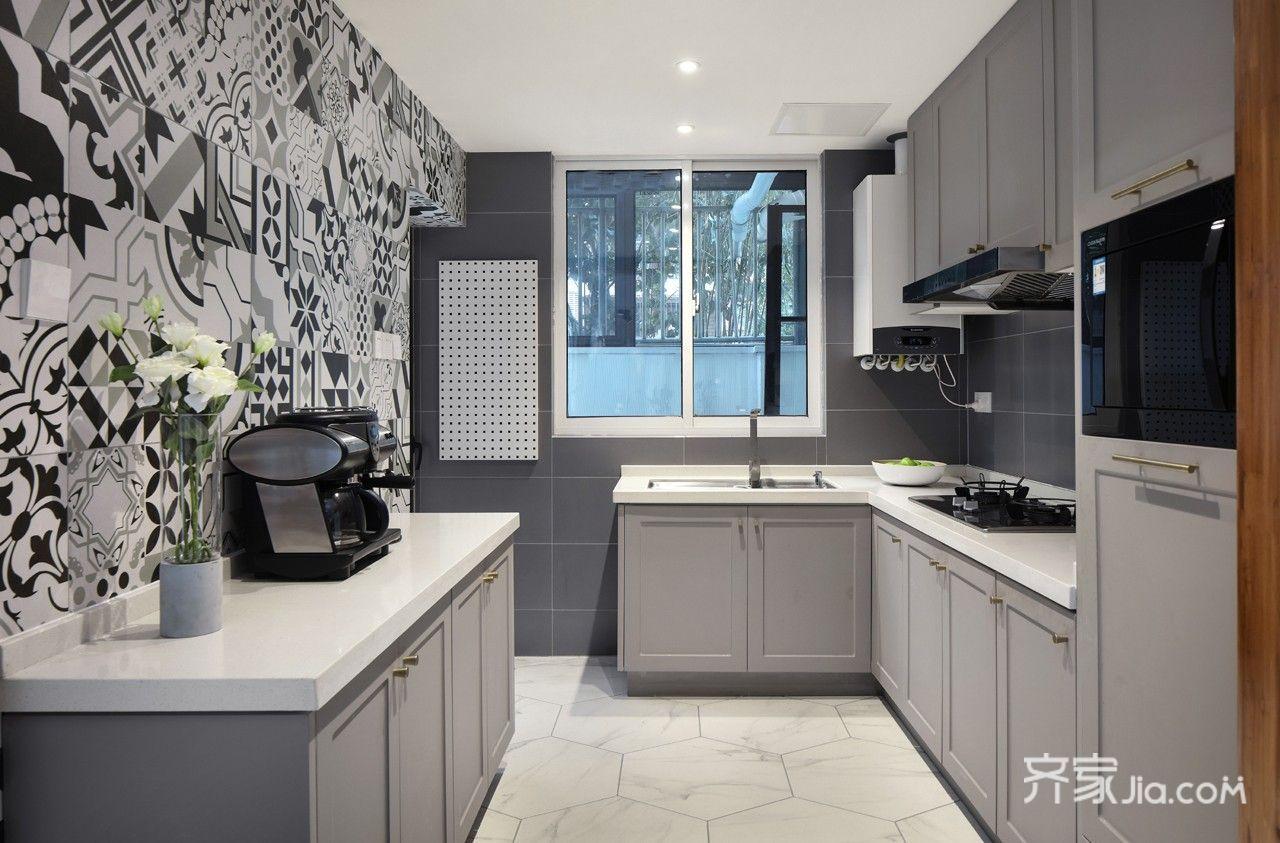 150平米简约复式装修厨房效果图