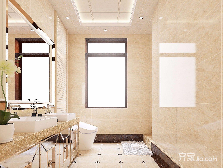 欧式风格两居室卫生间装修效果图