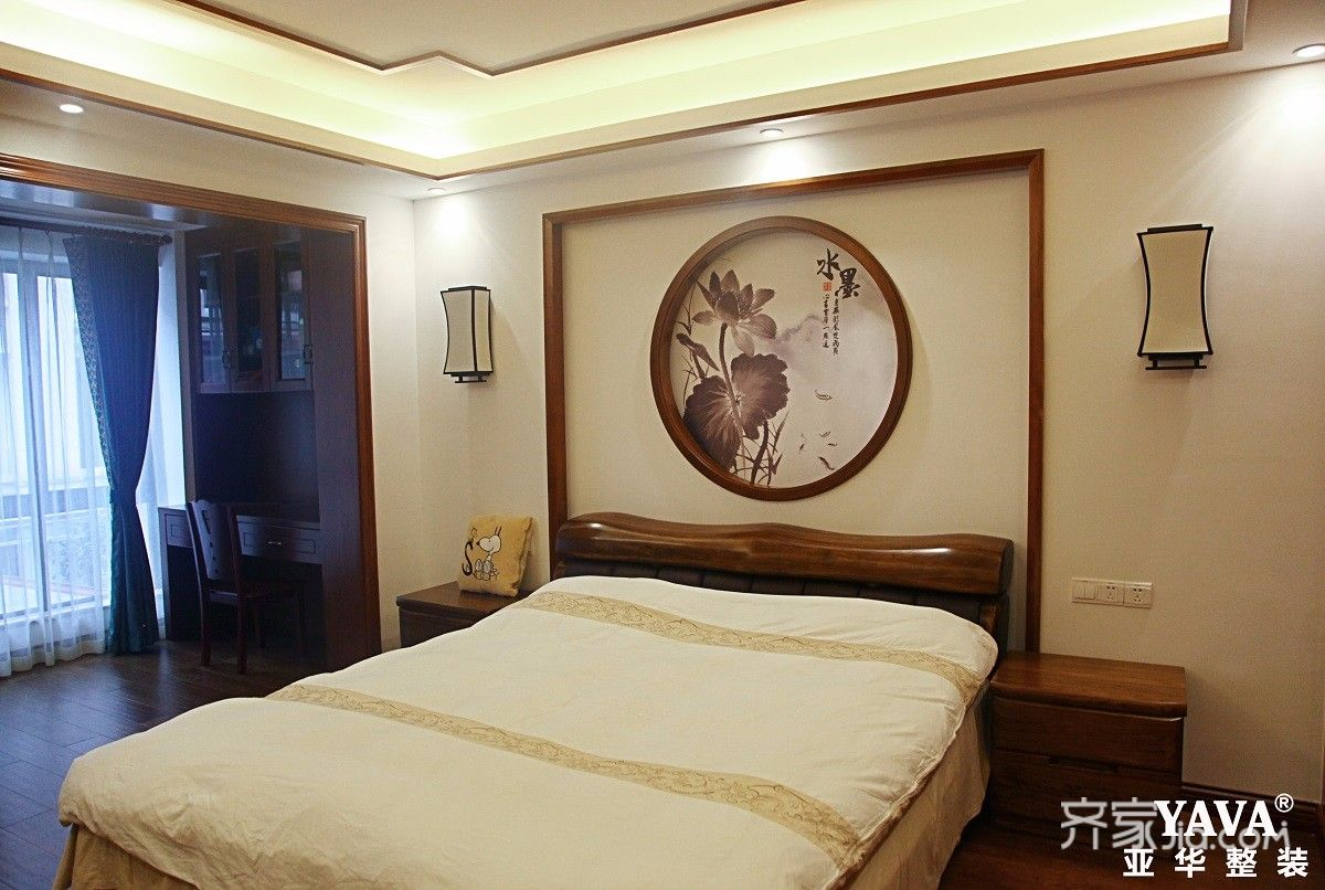 130平中式风格四居卧室装修设计图