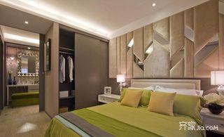 75㎡现代风格二居卧室装修效果图