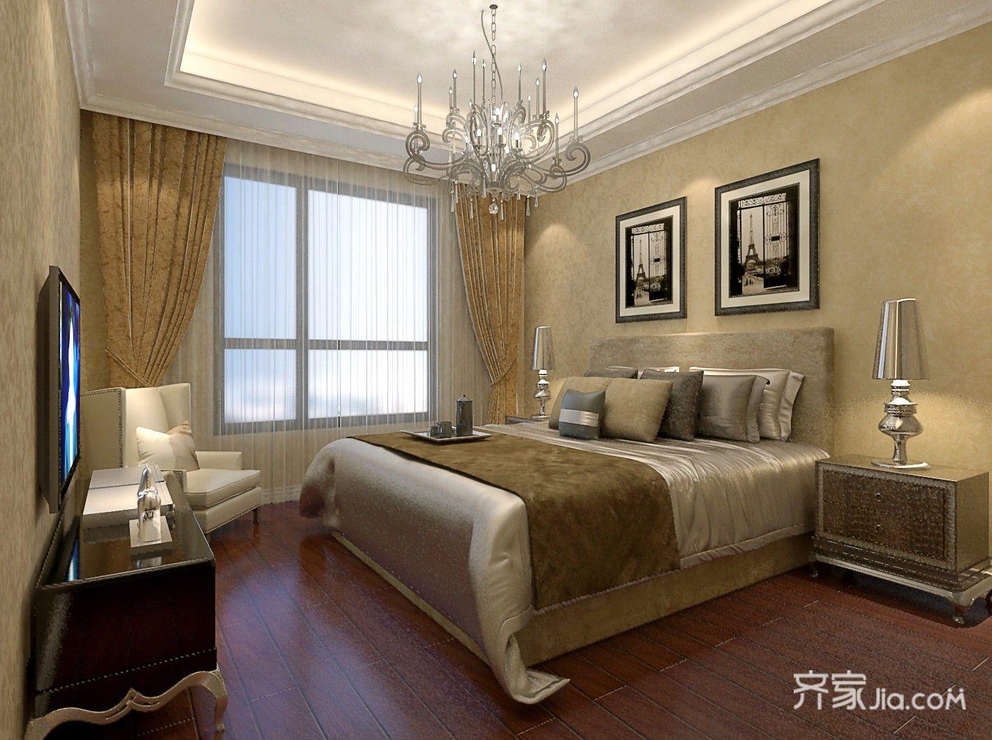 两居室现代简约卧室装修效果图